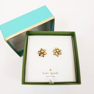 NIB Kate Spade Bourgeois Bow Earrings w/Gift Box